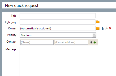 new quick request SuperOffice