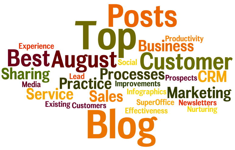 The Super Seven: Sales, Marketing and Customer Service posts August 2013