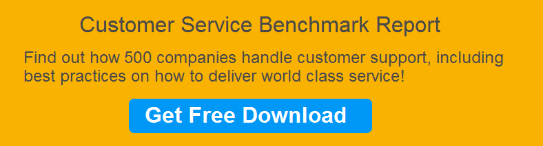Customer service benchmark report link to guide