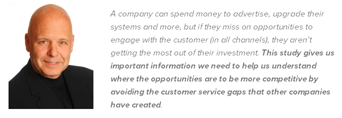 Shep Hyken comment on customer service benchmark report