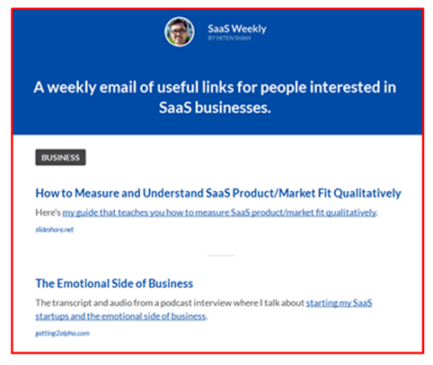 B2B curated content email