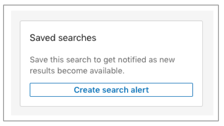 Saved Search Alert
