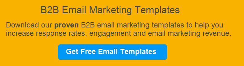 Email emplates for B2B marketing