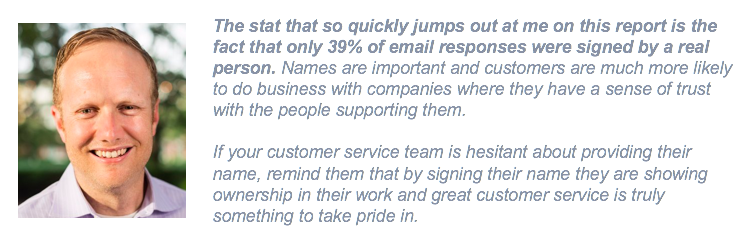 Jeremy Watkins customer service quote on benchmark report