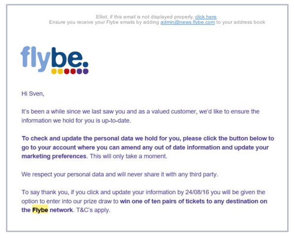 Flybe fined for not being GDPR compliant