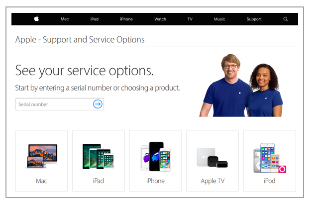 Apple prioritize tech support on their website