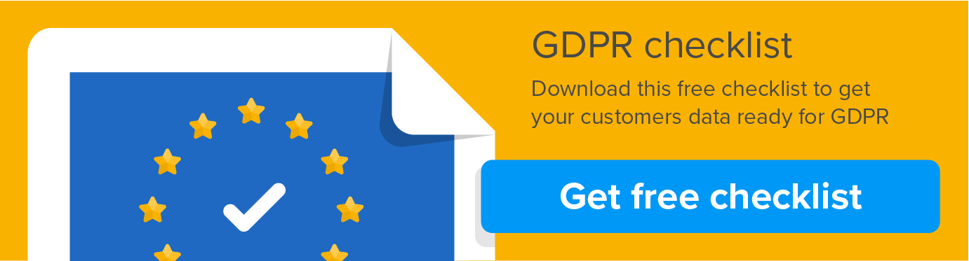 GDPR checklist for customer data