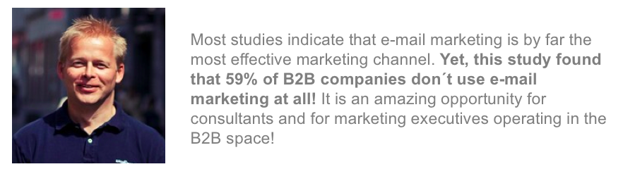 Karl Philip Lund B2B email marketing report comments