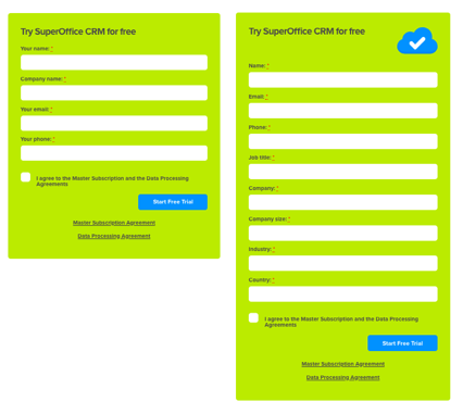 Web form length and conversion rates