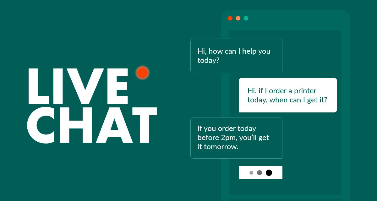Live chat for customer experience
