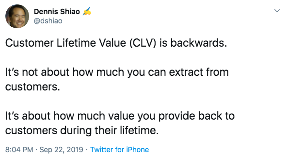 customer lifetime value quote