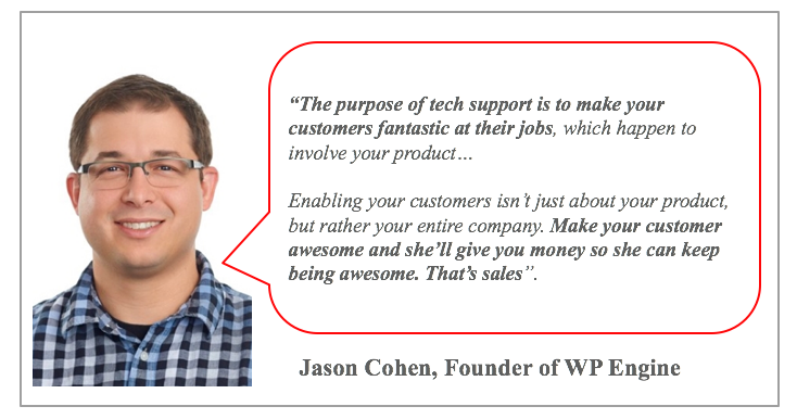 Jason Cohen on tech support and sales
