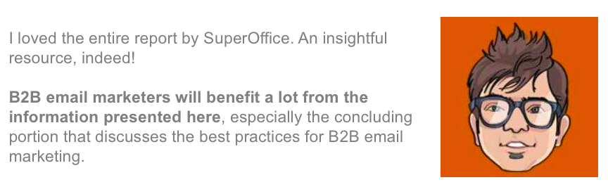 Kevin George B2B email marketing report comments