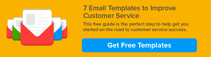 customer service email templates CTA