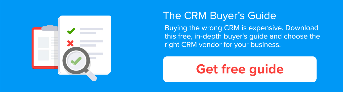 CRM buyers guide 2018